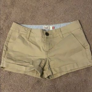 SO khaki shorts size 3